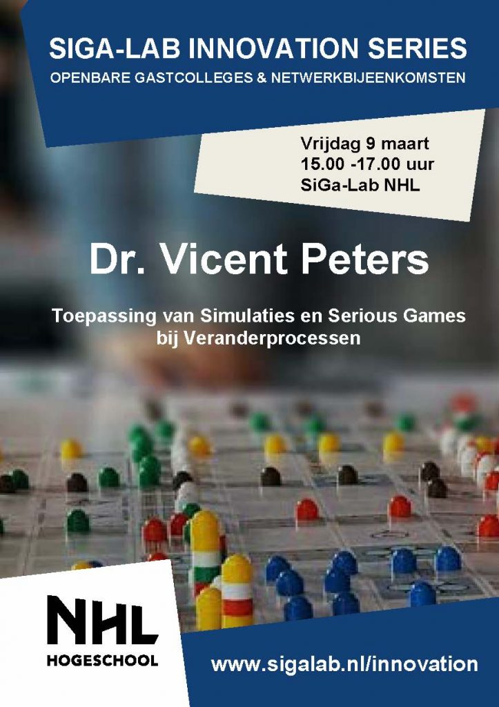 Flyer Vincent Peters - Voorzijde